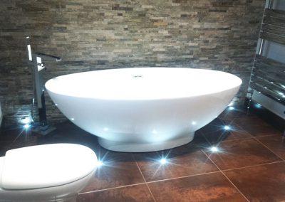 Bathroom feature wall & LEDS